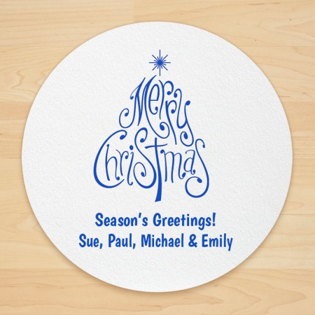 Christmas Tree Design 6 Personalized Christmas Coasters