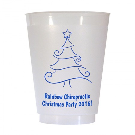Christmas Tree Design 9 16 oz Personalized Christmas Party Cups