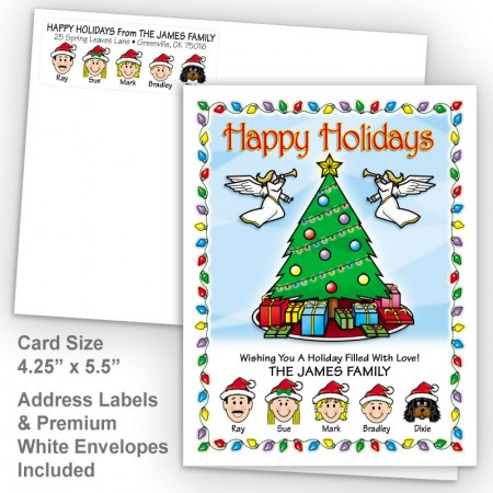 Christmas Tree Happy Holidays Fold Note Set