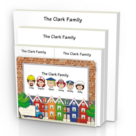 City Family Note Pad Set & Acrylic Holder