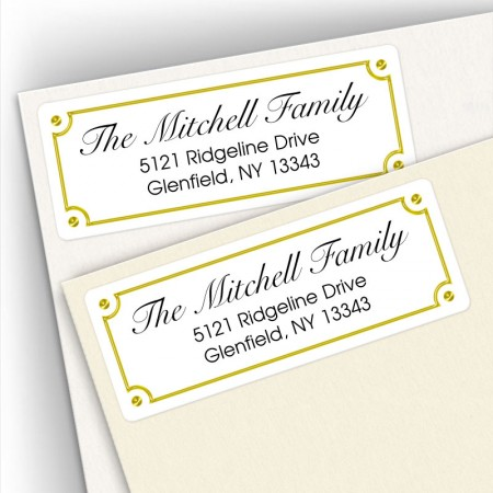 Classic Design 18 Address Labels