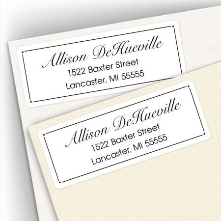 Classic Design 3 Address Labels
