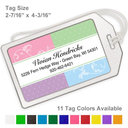 Classic Style 11 Multicolor Luggage Tag