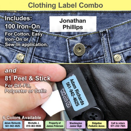 Clothing Label Combo Package