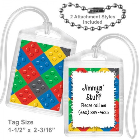 Color Blocks Mini Bag Tag