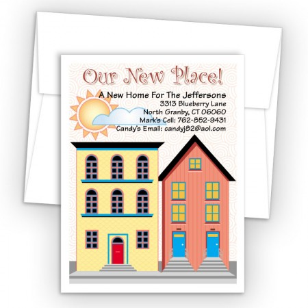 Color Houses Moving Card