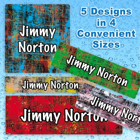 Color Scratch Waterproof Name Labels for Kids