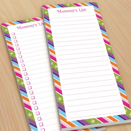 Colored Stripes To-Do Pads