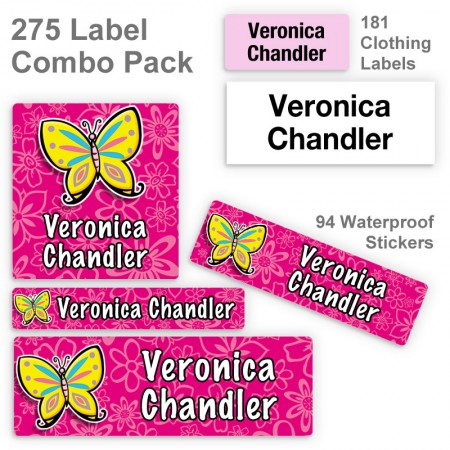 Colorful Butterfly Label Combo Pack