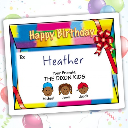 Colorful Happy Birthday Gift Labels