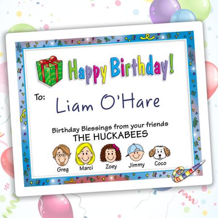 Confetti Happy Birthday Gift Labels