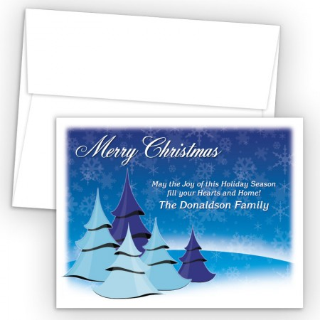 Cool Christmas Trees Merry Christmas Holiday Cards