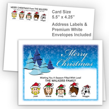 Cool Trees Merry Christmas Fold Note Set