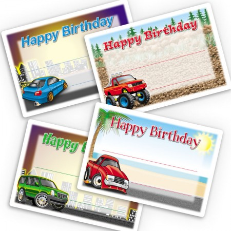 Cool Vehicles Gift Labels