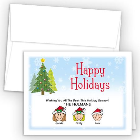 Craft Trees Happy Holiday Fold Note