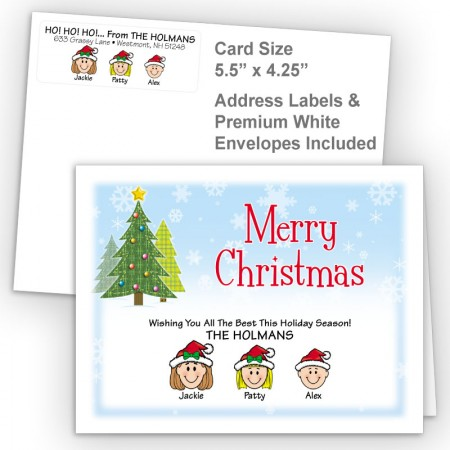 Craft Trees Merry Christmas Fold Note Set