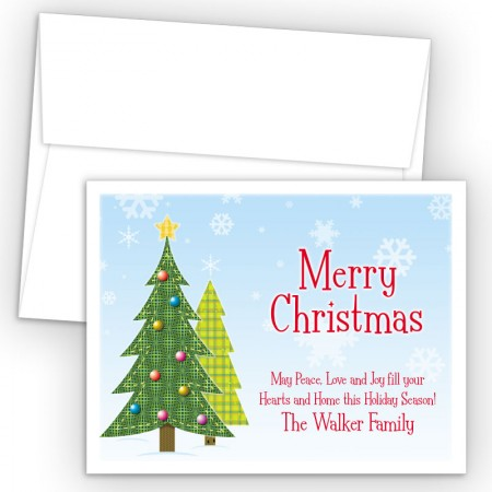Craft Trees Merry Christmas Holiday Cards