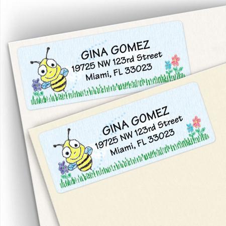 Crayon Bee Address Labels
