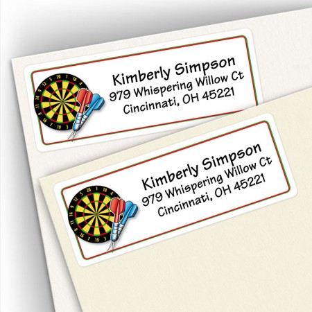 Darts Address Labels