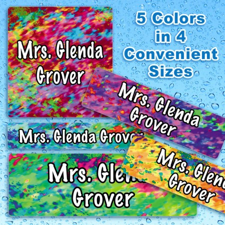 Dazzle 2 Waterproof Name Labels For Kids