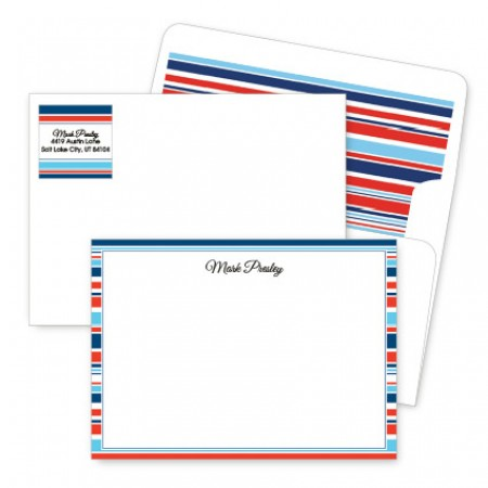Designer Stripes Artistic Correspondence Card Ensembles
