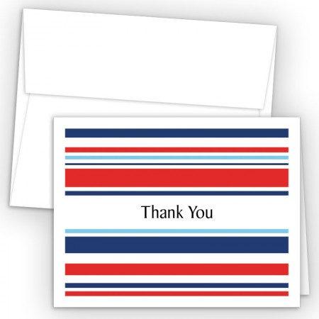 Designer Stripes Thank You Cards