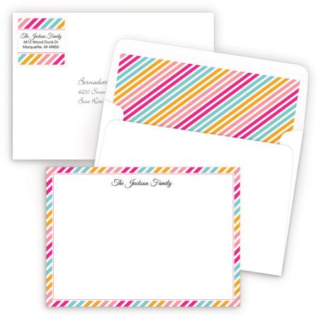 Diagonal Stripes 1 Artistic Correspondence Card Ensembles