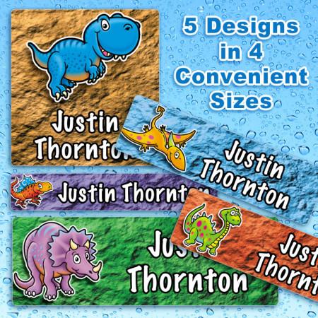 Dinosaurs Waterproof Name Labels For Kids