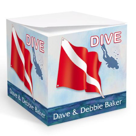 Dive Flag Memo Cube