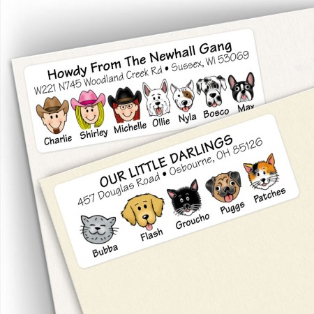 Dog & Cat Address Labels