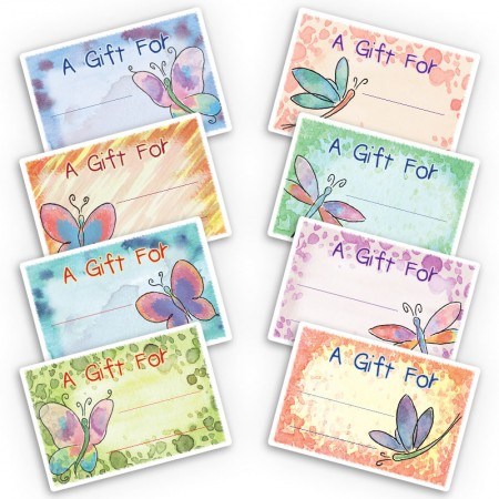 Dragonflies Butterflies Gift Labels