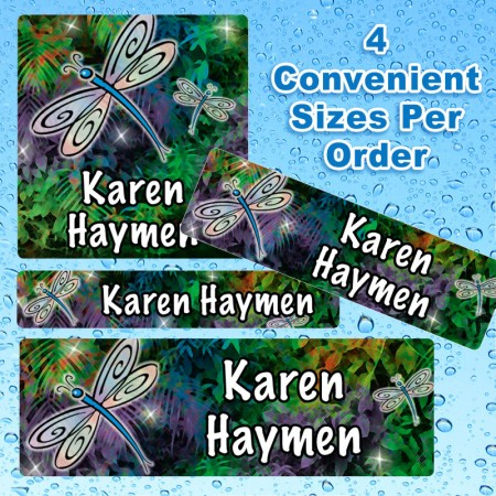 Dragonfly Waterproof Name Labels For Kids