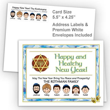 Dreidel Rosh Hashanah Fold Note Set