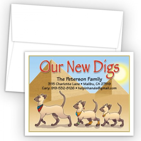 Egyptian Cats Moving Card