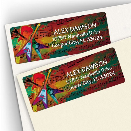 Electric Guitar Address Labels