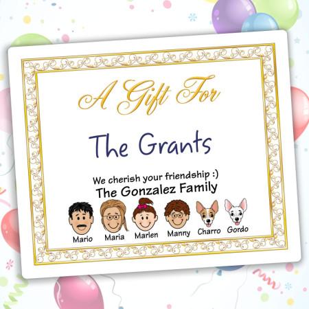 Elegant Family Gift Label