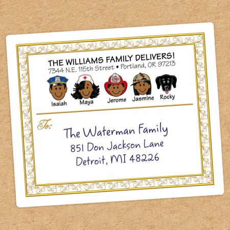 Elegant Family Shipping Label