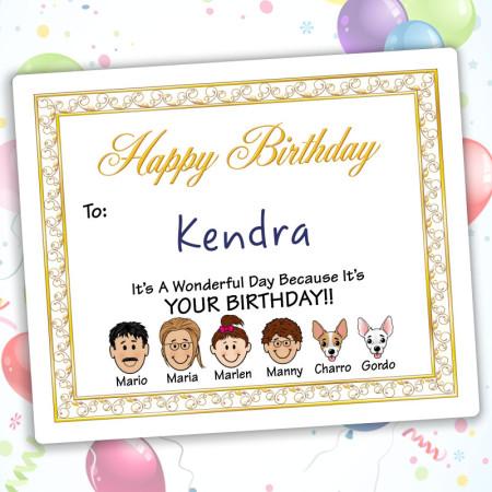 Elegant Happy Birthday Gift Label