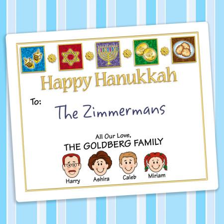 Elements Hanukkah Gift Label