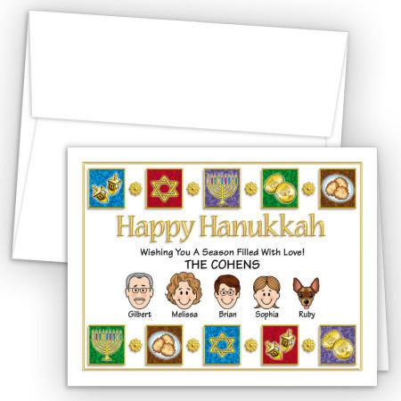 Elements Happy Hanukkah Holiday Fold Note Head