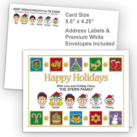 Elements Happy Holidays Fold Note Set