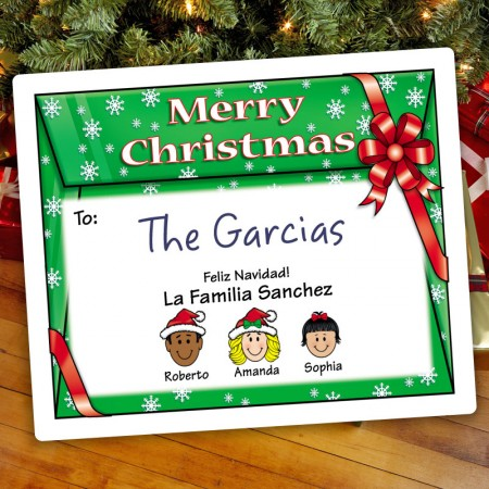 Envelope Christmas Gift Label