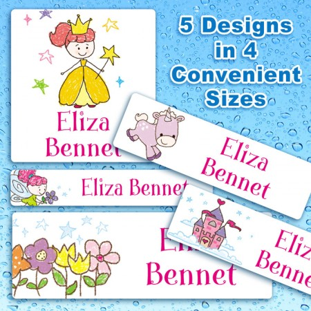 Fairy Tale Waterproof Name Labels For Kids