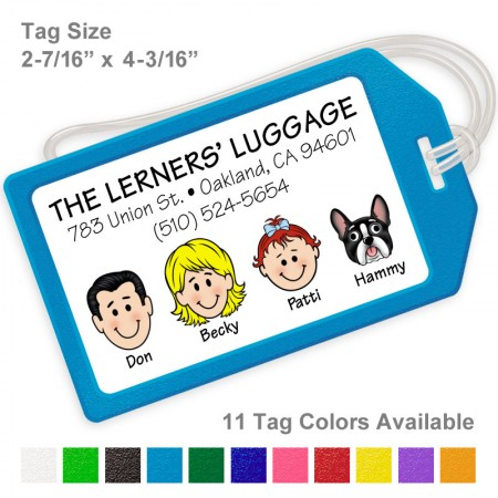 Family Caricature Luggage Tags