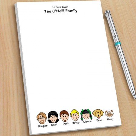 Family Note Pads - Large