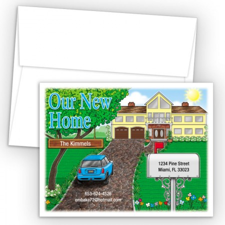 Fancy House Moving Card