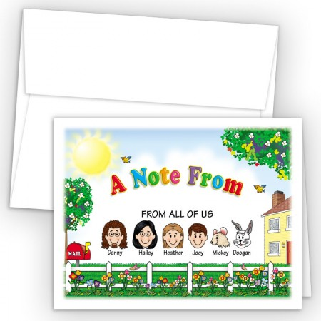 Fence Foldover Family Note Card