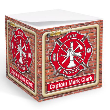 Fire Rescue Memo Cube