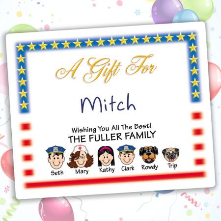 Flag Family Gift Labels