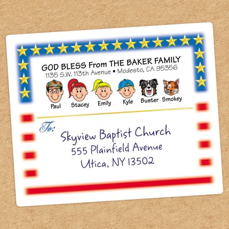 Flag Family Shipping Label